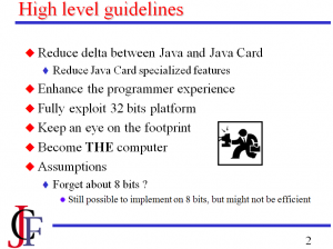 JCF high-level guidelines for JC3.0